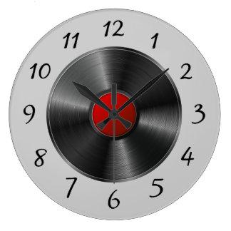 Abgeschiedene Vinylaufzeichnung Große Wanduhr
