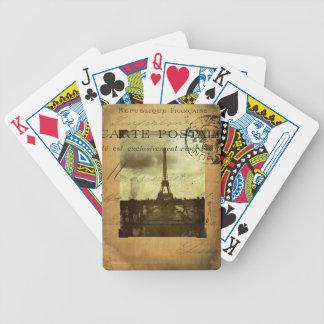 Abgestempelte Spielkarten Paris