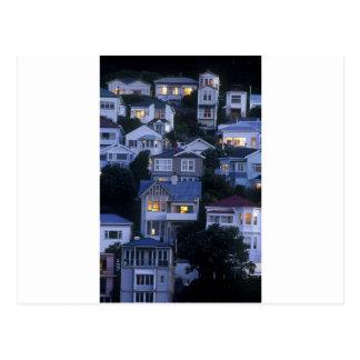 Abgestufte Häuser orientalische Bucht Wellington Postkarte