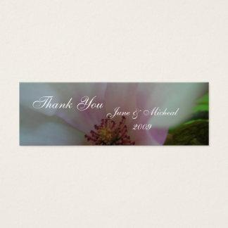 Abgetönte Herz-Hochzeits-Blume Mini Visitenkarte