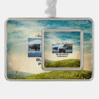 ABH blaue Ridge Allee Rahmen-Ornament Silber