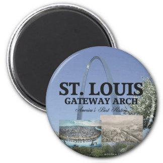 ABH St. Louis Zugang Runder Magnet 5,1 Cm