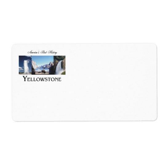 ABH Yellowstone Versand Aufkleber
