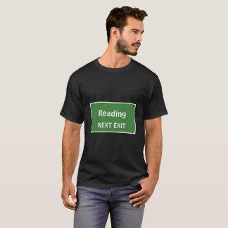 Ablesen des folgenden Ausgangs-Zeichens T-Shirt
