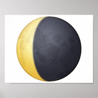 Abnehmender sichelförmiger Mond - Emoji Poster