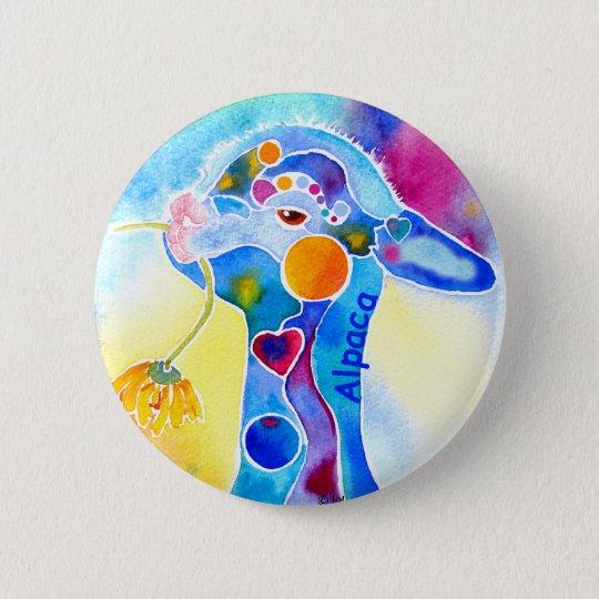 Abnutzungs-Alpaka für das warme Fuzzies Runder Button 5,1 Cm