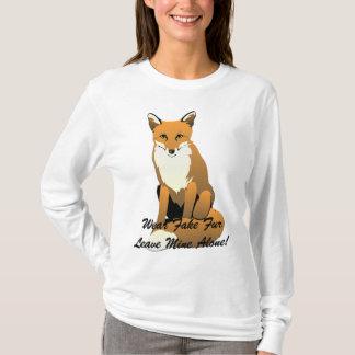 Abnutzungs-Fake-PelzFoxHoodie T-Shirt