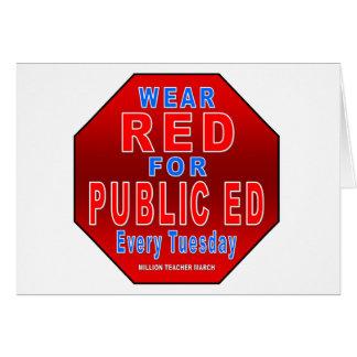 Abnutzungs-Rot für allgemeinen Ed Karte