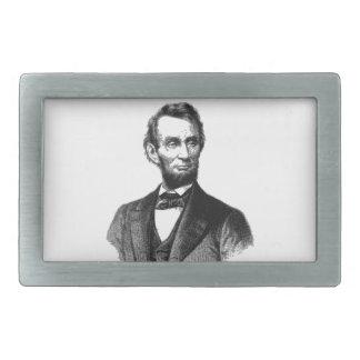 """Abraham Lincoln 1865 """"der große Befreier """" Rechteckige Gürtelschnalle"""