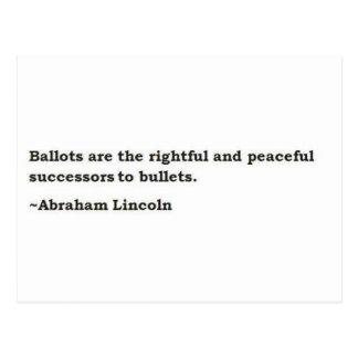 Abraham Lincoln 1 Postkarten