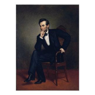 Abraham Lincoln-Porträt durch George Healy Kunst Foto