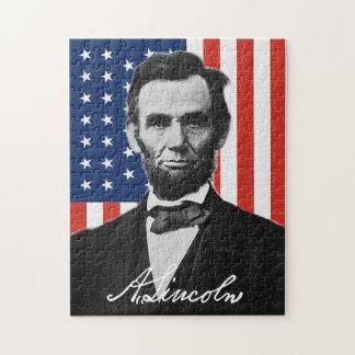 Abraham Lincoln-Puzzlespiel
