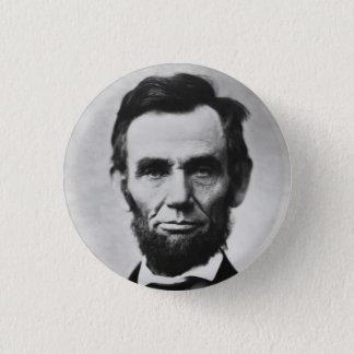 Abraham Lincoln Runder Button 3,2 Cm
