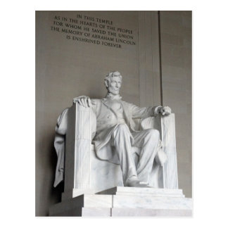 Abraham Lincoln-Statue Lincoln Memorial Washington Postkarte