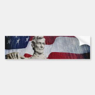 Abraham Lincoln und die Flagge Autoaufkleber