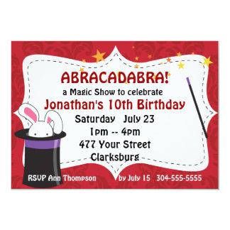 Abrakadabra-magische Show 12,7 X 17,8 Cm Einladungskarte
