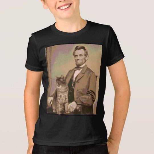 "Abraqham Lincoln und seine Katze ""Dixie "" T-Shirt"