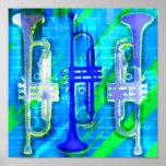 Abrégé sur 3 trompettes affiches