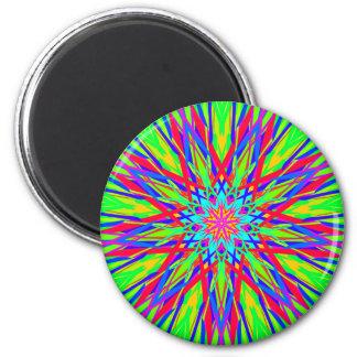 Abrégé sur artistique rayonnement moderne frais magnet rond 8 cm