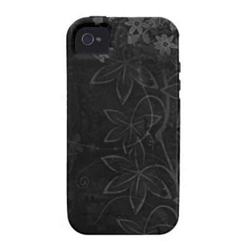 Abrégé sur foncé fleurs de vecteur coques iPhone 4