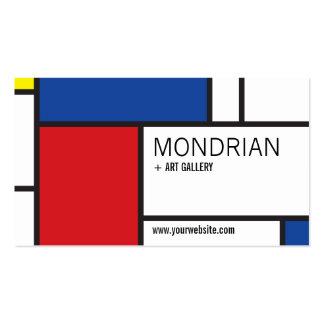 Abrégé sur minimaliste de Stijl d'art moderne de Carte De Visite