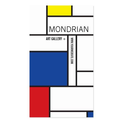 Abrégé sur minimaliste de Stijl d'art moderne de M Modèles De Cartes De Visite