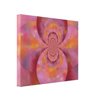 Abrégé sur rose colorant de cravate impressions sur toile