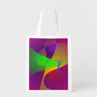 Abrégé sur vif couleur de contraste important sac d'épicerie