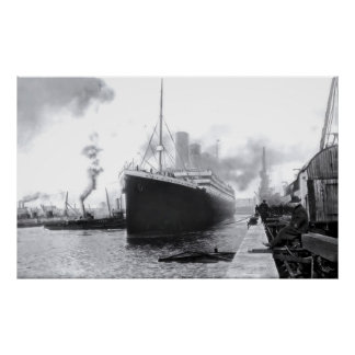 Abreisensouthampton:  Effektivwert titanisch Poster