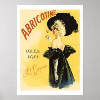 Abricotine (annonces françaises vintages reconstit poster