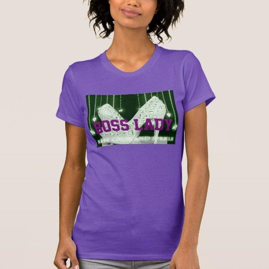 Absatz-Schuhe Chef-Damen-Diamonds T-Shirt