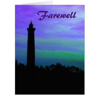 Abschied - Leuchtturm an der Dämmerung Karte