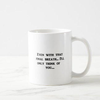 Abschließender Atem Kaffeetasse