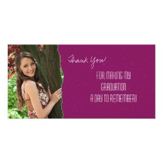 Abschluss danken Ihnen Foto-Karten-Rosa heftiges P Bildkarte