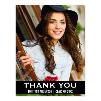 Abschluss danken Ihnen Foto-moderner Postkarte BW
