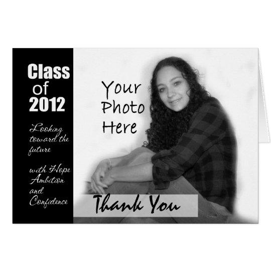 Abschluss-Foto danken Ihnen zu kardieren Mitteilungskarte