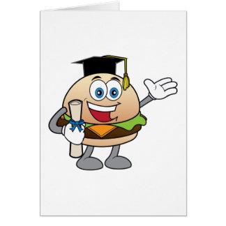 Abschluss-Glückwunsch-Cheeseburger Karte