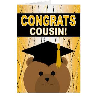 Abschluss-Glückwünsche für Cousin Karte
