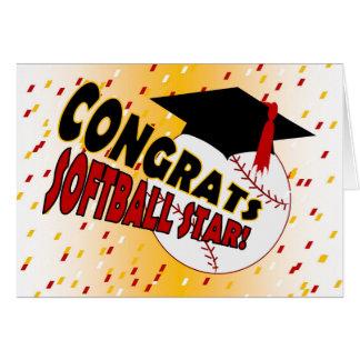 Abschluss-Glückwünsche für einen Softball-Stern Karte