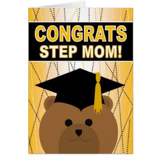 Abschluss-Glückwünsche für Schritt-Mamma Grußkarte