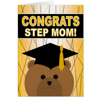 Abschluss-Glückwünsche für Schritt-Mamma Karte