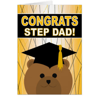 Abschluss-Glückwünsche für Schritt-Vati Karte