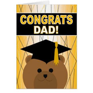 Abschluss-Glückwünsche für Vati/Vater Grußkarte