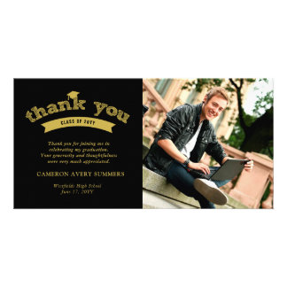Abschluss-Goldskizze-Absolvent danken Ihnen Karte