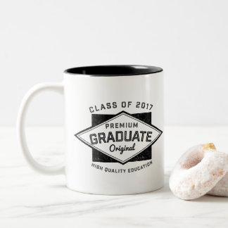 Abschluss-graduierte Vintage Retro Zweifarbige Tasse