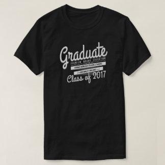 Abschluss-graduiertes Vintages beunruhigtes T-Shirt