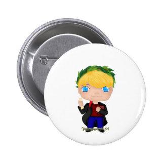 Abschluss-Jungen-Blondine (a) Runder Button 5,1 Cm