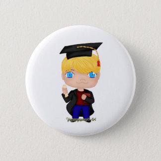 Abschluss-Jungen-Blondine (b) Runder Button 5,7 Cm