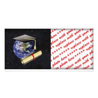 Abschluss-Kappe, Erde w/diploma - haben Sie Photokarte