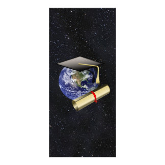 Abschluss-Kappe, Erde w/diploma - haben Sie Werbekarte